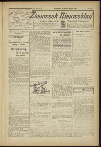 Zeeuwsch Nieuwsblad/Wegeling's Nieuwsblad 1935-12-31