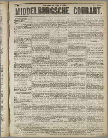 Middelburgsche Courant 1921-04-19