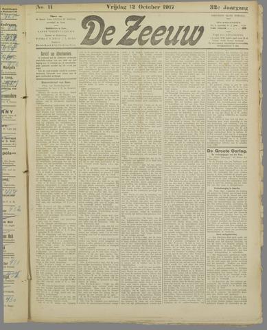 De Zeeuw. Christelijk-historisch nieuwsblad voor Zeeland 1917-10-12