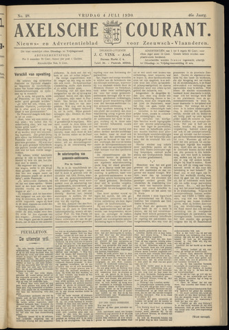 Axelsche Courant 1930-07-04