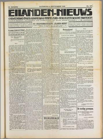 Eilanden-nieuws. Christelijk streekblad op gereformeerde grondslag 1939-09-02