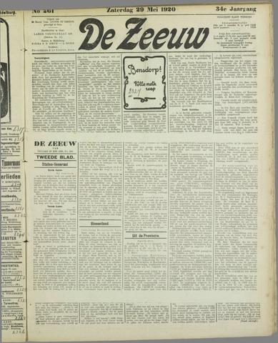 De Zeeuw. Christelijk-historisch nieuwsblad voor Zeeland 1920-05-29