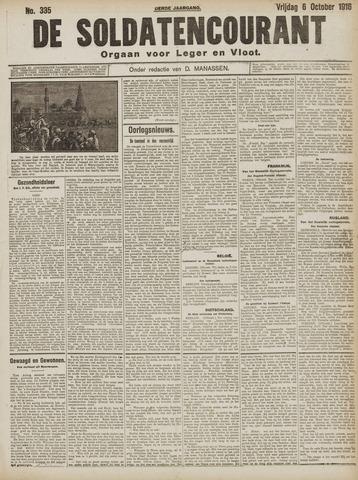 De Soldatencourant. Orgaan voor Leger en Vloot 1916-10-06