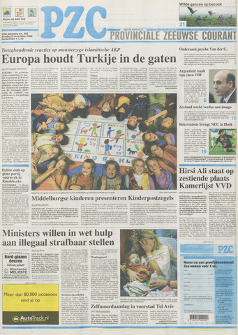 Provinciale Zeeuwse Courant 2002-11-05