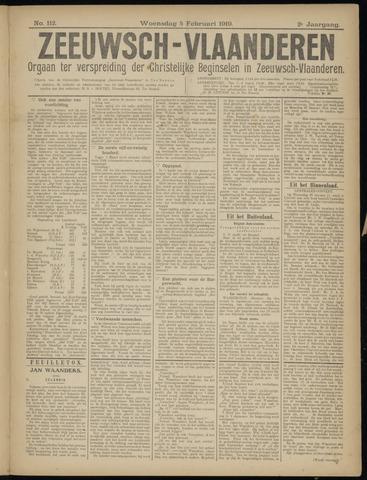 Luctor et Emergo. Antirevolutionair nieuws- en advertentieblad voor Zeeland / Zeeuwsch-Vlaanderen. Orgaan ter verspreiding van de christelijke beginselen in Zeeuwsch-Vlaanderen 1919-02-05