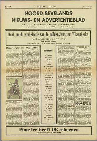 Noord-Bevelands Nieuws- en advertentieblad 1957-11-16