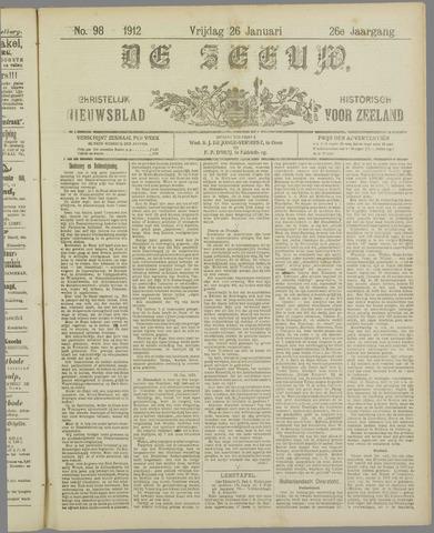 De Zeeuw. Christelijk-historisch nieuwsblad voor Zeeland 1912-01-26