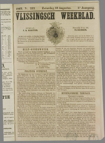 Vlissings Weekblad 1867-08-10