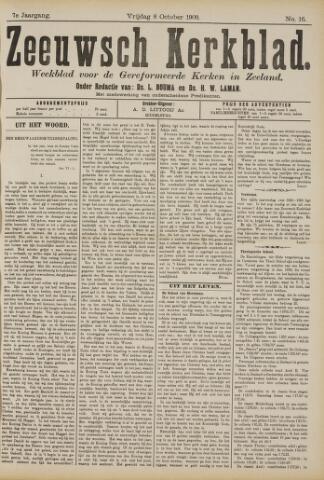 Zeeuwsche kerkbode, weekblad gewijd aan de belangen der gereformeerde kerken/ Zeeuwsch kerkblad 1909-10-08