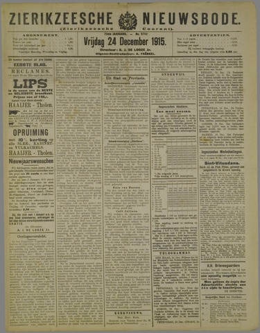 Zierikzeesche Nieuwsbode 1915-12-24