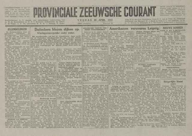 Provinciale Zeeuwse Courant 1945-04-20