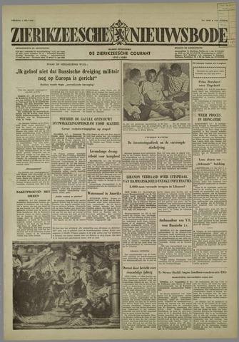 Zierikzeesche Nieuwsbode 1958-07-04
