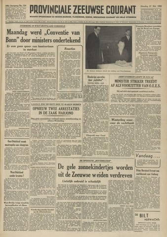 Provinciale Zeeuwse Courant 1952-05-27