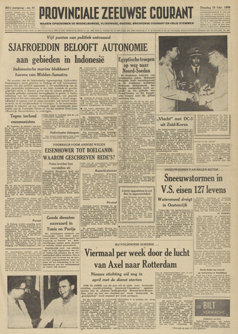 Provinciale Zeeuwse Courant 1958-02-18