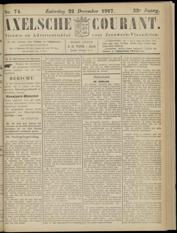 Axelsche Courant 1917-12-22