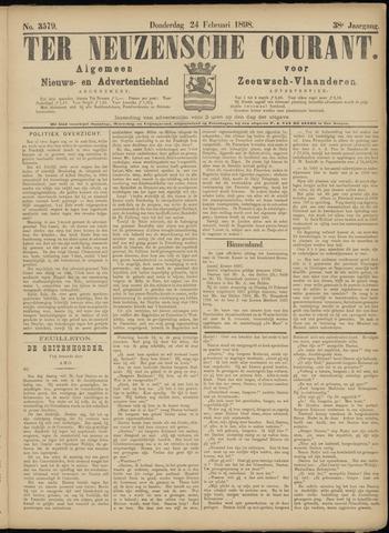 Ter Neuzensche Courant. Algemeen Nieuws- en Advertentieblad voor Zeeuwsch-Vlaanderen / Neuzensche Courant ... (idem) / (Algemeen) nieuws en advertentieblad voor Zeeuwsch-Vlaanderen 1898-02-24
