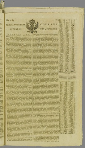 Middelburgsche Courant 1805-11-09