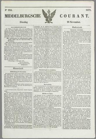 Middelburgsche Courant 1871-11-28
