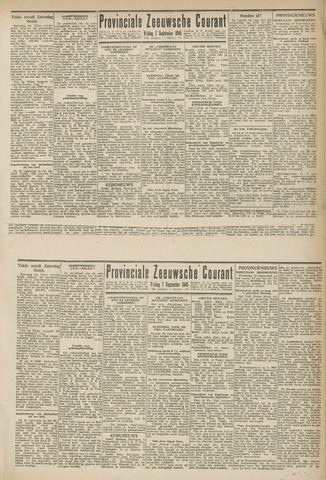 Provinciale Zeeuwse Courant 1945-09-07