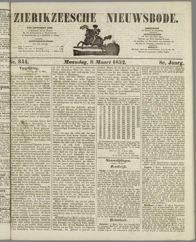 Zierikzeesche Nieuwsbode 1852-03-08