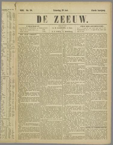 De Zeeuw. Christelijk-historisch nieuwsblad voor Zeeland 1890-06-28