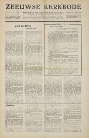 Zeeuwsche kerkbode, weekblad gewijd aan de belangen der gereformeerde kerken/ Zeeuwsch kerkblad 1956-10-19