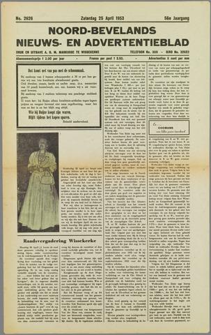 Noord-Bevelands Nieuws- en advertentieblad 1953-04-25