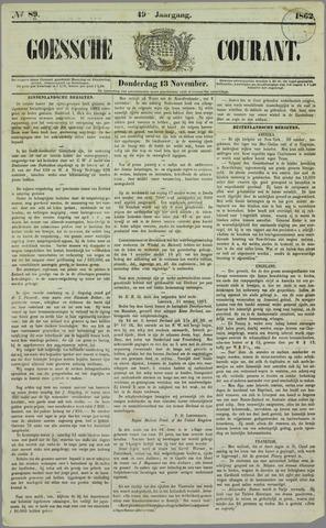 Goessche Courant 1862-11-13