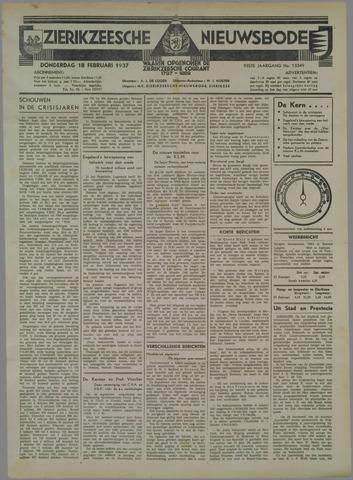 Zierikzeesche Nieuwsbode 1937-02-18