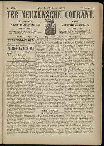 Ter Neuzensche Courant. Algemeen Nieuws- en Advertentieblad voor Zeeuwsch-Vlaanderen / Neuzensche Courant ... (idem) / (Algemeen) nieuws en advertentieblad voor Zeeuwsch-Vlaanderen 1882-10-25