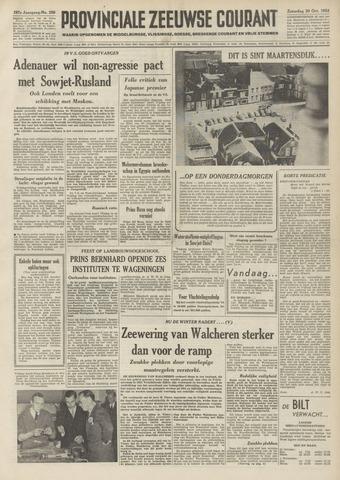 Provinciale Zeeuwse Courant 1954-10-30