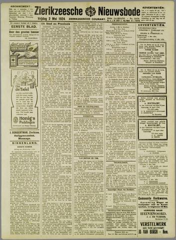 Zierikzeesche Nieuwsbode 1924-05-02