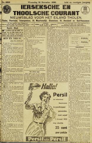 Ierseksche en Thoolsche Courant 1930-12-31