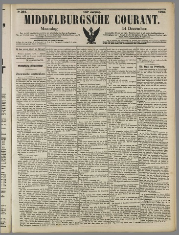 Middelburgsche Courant 1903-12-14