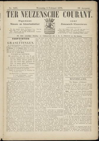 Ter Neuzensche Courant. Algemeen Nieuws- en Advertentieblad voor Zeeuwsch-Vlaanderen / Neuzensche Courant ... (idem) / (Algemeen) nieuws en advertentieblad voor Zeeuwsch-Vlaanderen 1879-02-05
