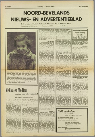 Noord-Bevelands Nieuws- en advertentieblad 1954-01-16