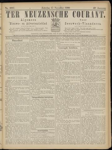 Ter Neuzensche Courant. Algemeen Nieuws- en Advertentieblad voor Zeeuwsch-Vlaanderen / Neuzensche Courant ... (idem) / (Algemeen) nieuws en advertentieblad voor Zeeuwsch-Vlaanderen 1900-11-17