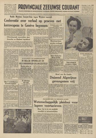 Provinciale Zeeuwse Courant 1958-11-01