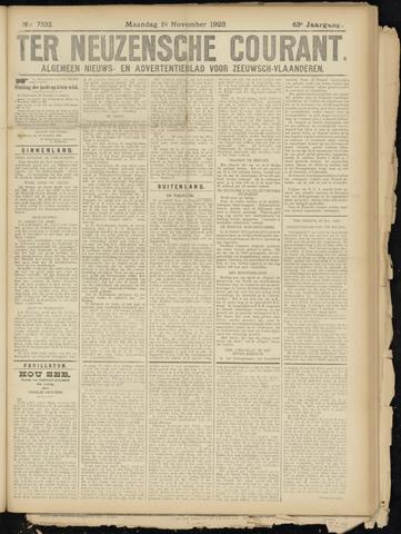Ter Neuzensche Courant. Algemeen Nieuws- en Advertentieblad voor Zeeuwsch-Vlaanderen / Neuzensche Courant ... (idem) / (Algemeen) nieuws en advertentieblad voor Zeeuwsch-Vlaanderen 1923-11-19
