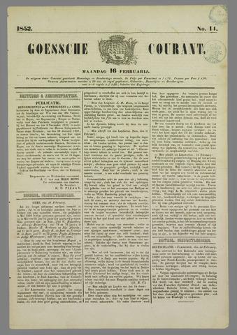 Goessche Courant 1852-02-16
