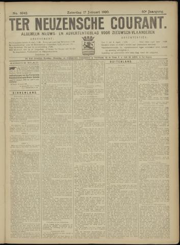 Ter Neuzensche Courant. Algemeen Nieuws- en Advertentieblad voor Zeeuwsch-Vlaanderen / Neuzensche Courant ... (idem) / (Algemeen) nieuws en advertentieblad voor Zeeuwsch-Vlaanderen 1920-01-17