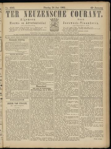 Ter Neuzensche Courant. Algemeen Nieuws- en Advertentieblad voor Zeeuwsch-Vlaanderen / Neuzensche Courant ... (idem) / (Algemeen) nieuws en advertentieblad voor Zeeuwsch-Vlaanderen 1902-06-24