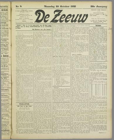 De Zeeuw. Christelijk-historisch nieuwsblad voor Zeeland 1921-10-10