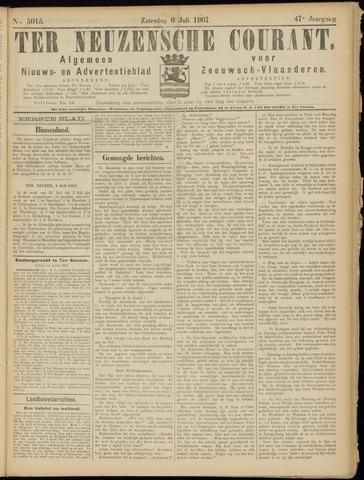 Ter Neuzensche Courant. Algemeen Nieuws- en Advertentieblad voor Zeeuwsch-Vlaanderen / Neuzensche Courant ... (idem) / (Algemeen) nieuws en advertentieblad voor Zeeuwsch-Vlaanderen 1907-07-06