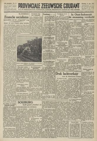 Provinciale Zeeuwse Courant 1947-01-14