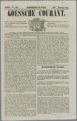 Goessche Courant 1865-04-20