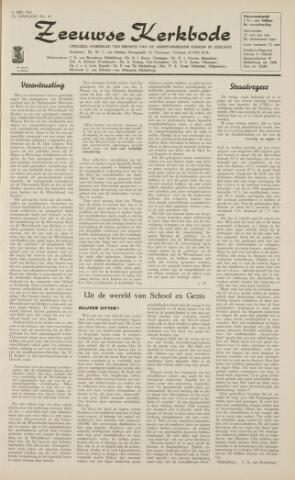 Zeeuwsche kerkbode, weekblad gewijd aan de belangen der gereformeerde kerken/ Zeeuwsch kerkblad 1962-05-11
