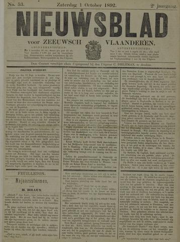 Nieuwsblad voor Zeeuwsch-Vlaanderen 1892-10-01