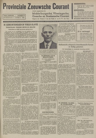Provinciale Zeeuwse Courant 1941-04-01