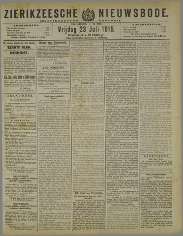 Zierikzeesche Nieuwsbode 1915-07-23